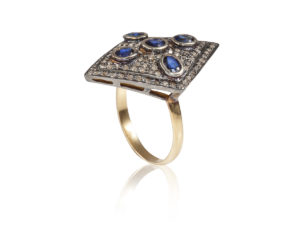 and grande products diamond edwardian weiner lozenge sapphire ring erica
